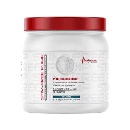 Metabolic Nutrition Pre-Workouts Metabolic Nutrition Stim-Free Pump Pre Workout 300g