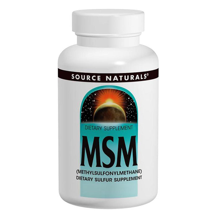 Source Naturals Sports Nutrition & More Source Naturals MSM 1000mg 120 Tabs (580881612844)