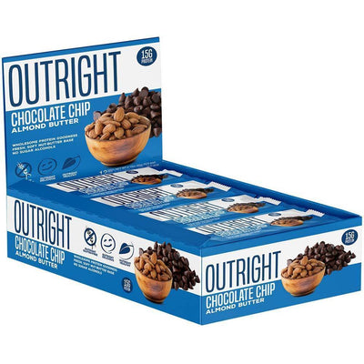 MTS Nutrition Bars Chocolate Chip Almond Butter MTS OUTRIGHT BAR 12/BOX (3899430764588)