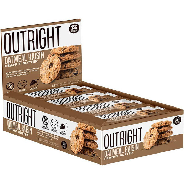 MTS Nutrition Bars Oatmeal Raisin Peanut Butter MTS OUTRIGHT BAR 12/BOX (3899430764588)