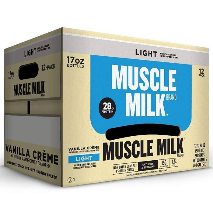 CytoSport Drinks Vanilla Creme Muscle Milk Light RTD 12/Case (1392658841644)
