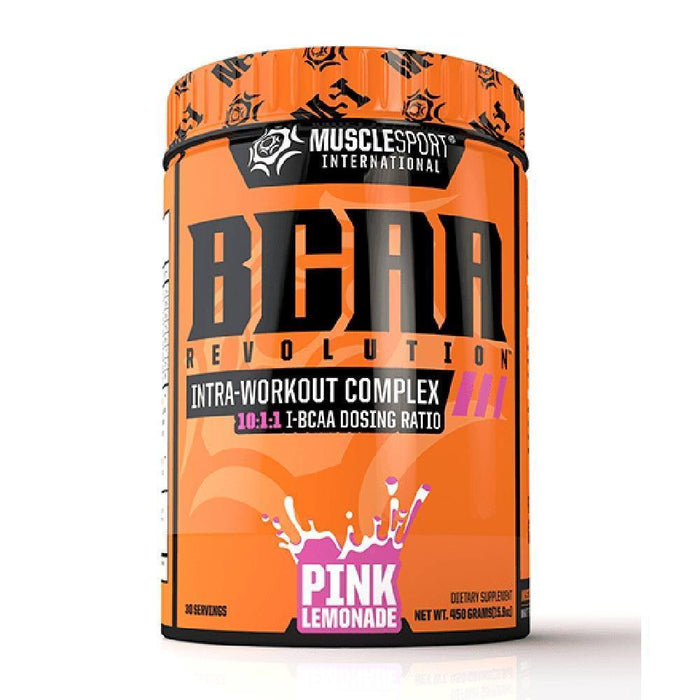 Muscle Sport Amino Acids Pink Lemonade Muscle Sport BCAA Revolution 30/Servings (4392916615283)
