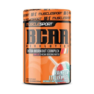 Muscle Sport Amino Acids Rainbow Italian Ice Muscle Sport BCAA Revolution 30/Servings (4392916615283)