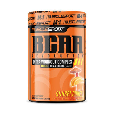 Muscle Sport Amino Acids Sunset Punch Muscle Sport BCAA Revolution 30/Servings (4392916615283)