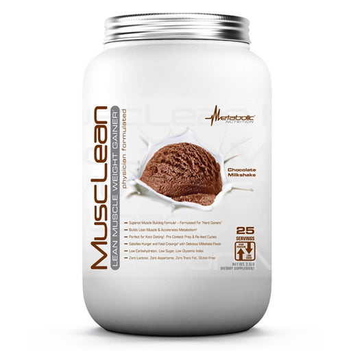 Metabolic Nutrition Sports Nutrition & More Chocolate Milkshake Metabolic Nutrition MuscLean 2.5 Lbs (582446252076)