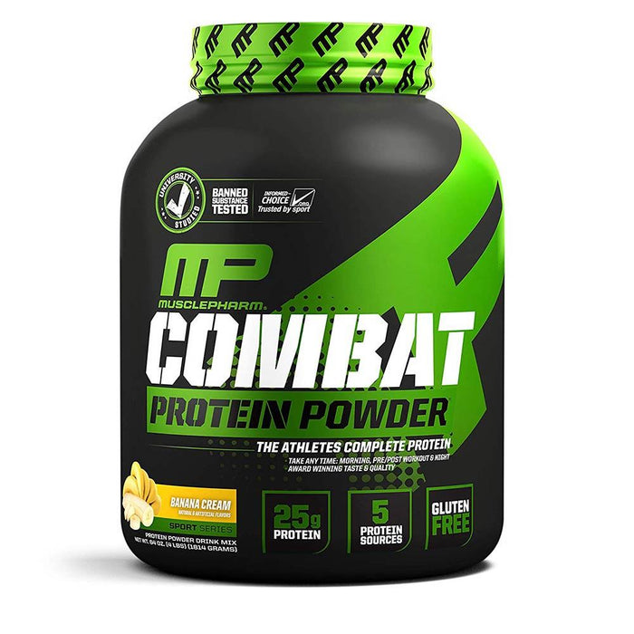 Muscle Pharm Sports Nutrition & More Banana Cream Muscle Pharm Combat Sport Powder 4 Lbs (581491523628)