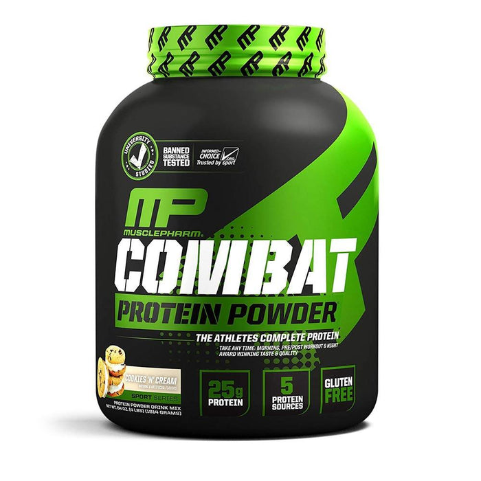 Muscle Pharm Sports Nutrition & More Cookies 'N' Cream Muscle Pharm Combat Sport Powder 4 Lbs (581491523628)