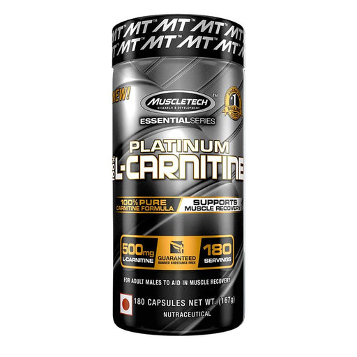 MuscleTech Fat Burner MuscleTech ES Platinum L-Carnitine 180 Capsules (4516764188787)