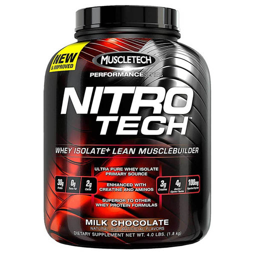 MuscleTech Sports Nutrition & More Milk Chocolate MuscleTech Nitro-Tech Performance 4 Lbs (581570232364)