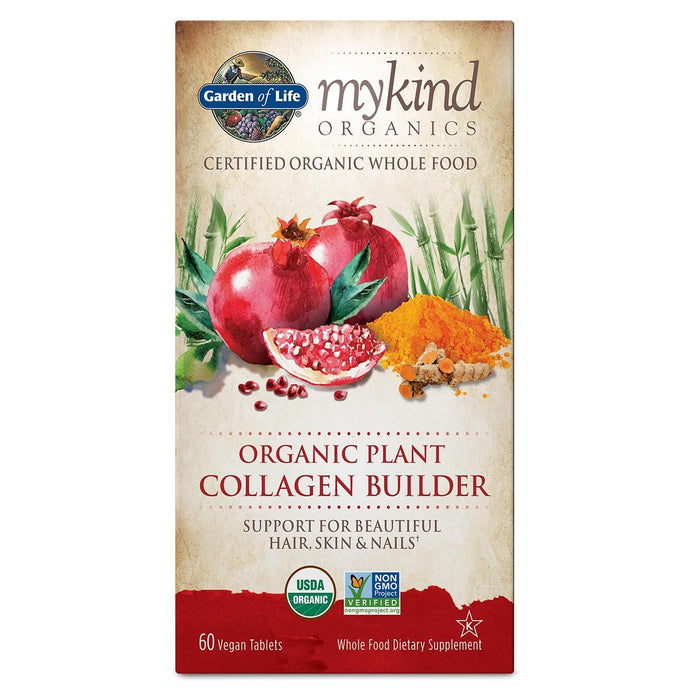 Garden of Life Vitamins, Minerals, Herbs & More Garden of Life Kind Organics Organic Plant Collagen Builder 60 Vege Tabs (582518013996)