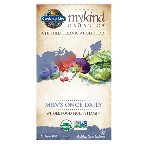 Garden of Life Vitamins, Minerals, Herbs & More Garden Of Life MyKind Organics Men's Once Daily (Non GMO) 30 Tabs (581996740652)