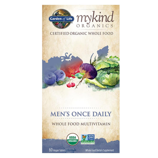 Garden of Life Vitamins, Minerals, Herbs & More MyKind Organics Men's Once Daily (Non-GMO) 60 Tabs (581996937260)