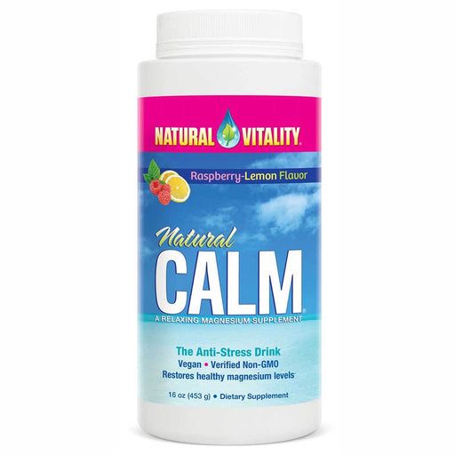 Natural Vitality Vitamins, Minerals, Herbs & More Raspberry-Lemon Natural Vitality Natural Calm 16oz (580818206764)