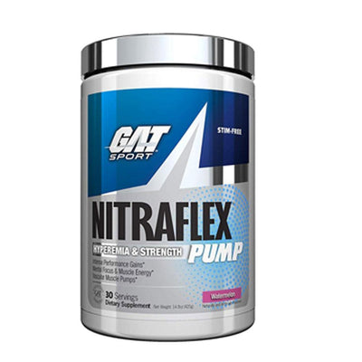GAT Nitric Oxide Watermelon GAT NITRAFLEX PUMP 20 SERVINGS (1678816575532)