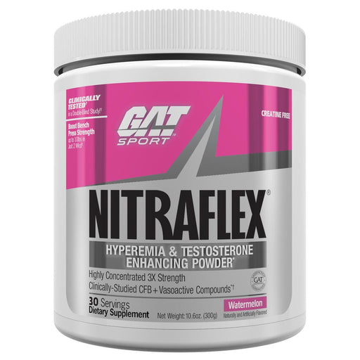 GAT Sports Nutrition & More Watermelon GAT Nitraflex 300 Grams (581670731820)