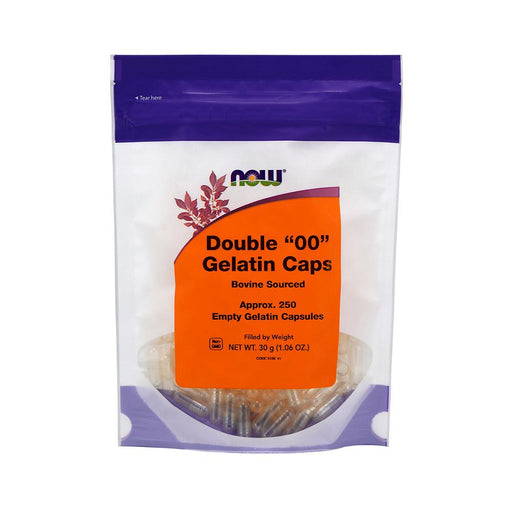 "Now Foods Unclassified NF Double ""00"" Gelatin Caps 250C Bovine Sourced (4360281194611)"