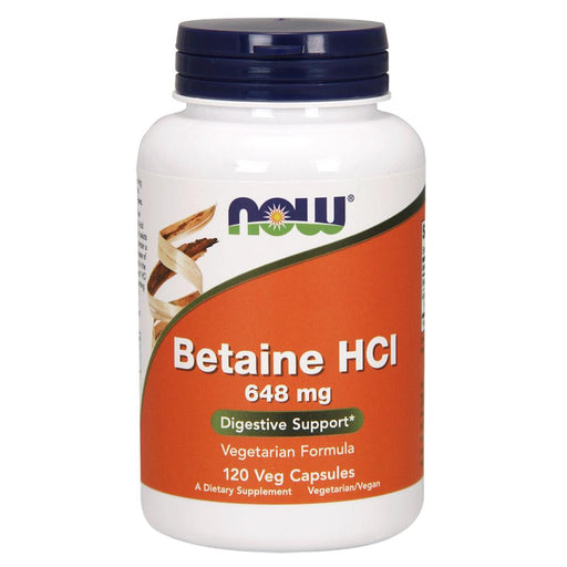 Now Foods Vitamins, Minerals, Herbs & More Now Foods Betaine HCl 648mg with 150mg of Pepsin 120 Caps (582517751852)