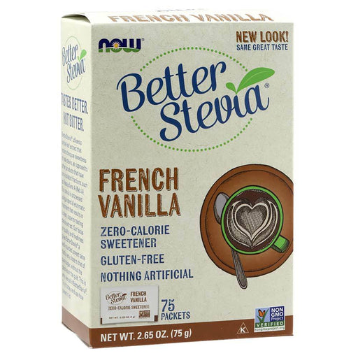 Now Foods Vitamins, Minerals, Herbs & More Now Foods Better Stevia Vanilla Packets 75/Box (582259867692)