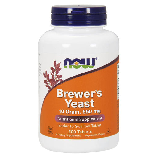 Now Foods Vitamins, Minerals, Herbs & More Now Foods Brewers Yeast 10 Grain 200 Tablets (582178897964)