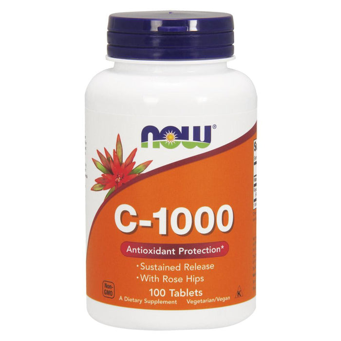 Now Foods Vitamins, Minerals, Herbs & More Now Foods C-1000 Sustained Release 100 Tablets (582157434924)