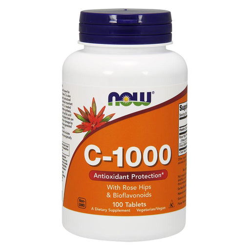Now Foods Vitamins, Minerals, Herbs & More Now Foods C-1000 w/Rose Hips & Bioflavonoids 100 Tablets (582214090796)