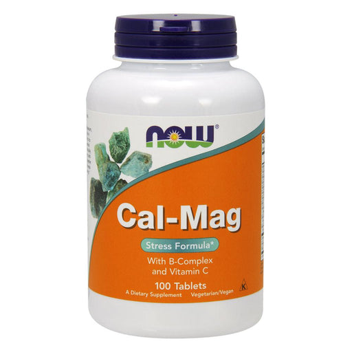 Now Foods Vitamins, Minerals, Herbs & More Now Foods Cal-Mag Stress Formula 100 Tablets (582235455532)