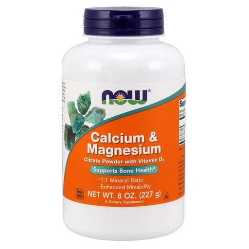 Now Foods Vitamins, Minerals, Herbs & More Now Foods Cal/Mag Citrate Powder 8 Oz (582262030380)