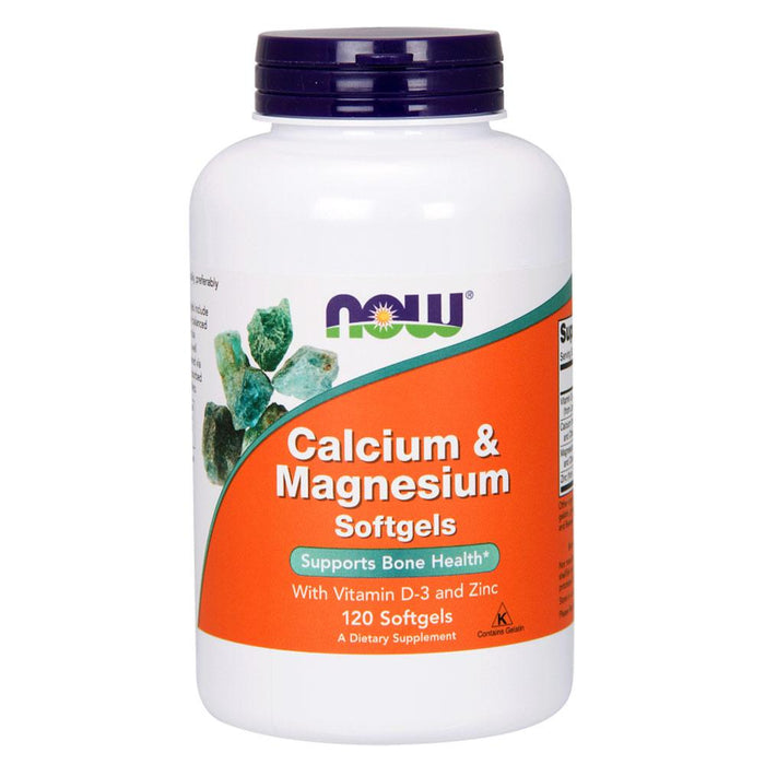 Now Foods Vitamins, Minerals, Herbs & More Now Foods Calcium and Magnesium w/Vitamin D-3 and Zinc 120 Gels (580933943340)