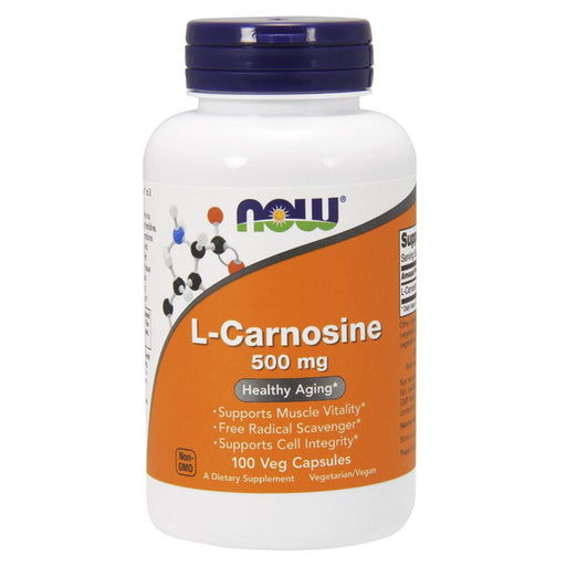 Now Foods Vitamins, Minerals, Herbs & More Now Foods Carnosine 500mg 100 Vege Caps (582314033196)