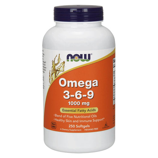 Now Foods Vitamins, Minerals, Herbs & More Now Foods Omega 3-6-9 1000 Mg 250 Softgels (582211534892)