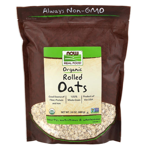 Now Foods Vitamins, Minerals, Herbs & More Now Foods Certified Organic Rolled Oats 24 oz (582055231532)