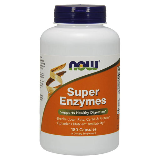 Now Foods Vitamins, Minerals, Herbs & More Now Foods Super Enzymes 180 Caps (581518688300)