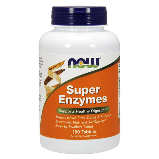 Now Foods Vitamins, Minerals, Herbs & More Now Foods Super Enzymes 180 Tabs (580557570092)