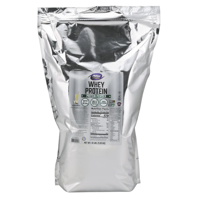Now Foods Sports Nutrition & More Natural Vanilla Now Foods Whey Protein 10 Lbs (581382930476)