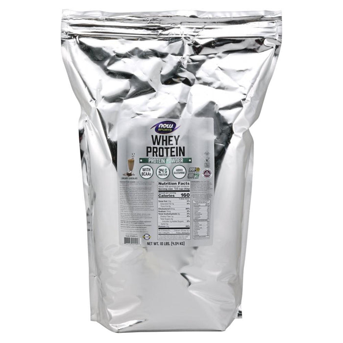 Now Foods Sports Nutrition & More Natural Chocolate Now Foods Whey Protein 10 Lbs (581382930476)