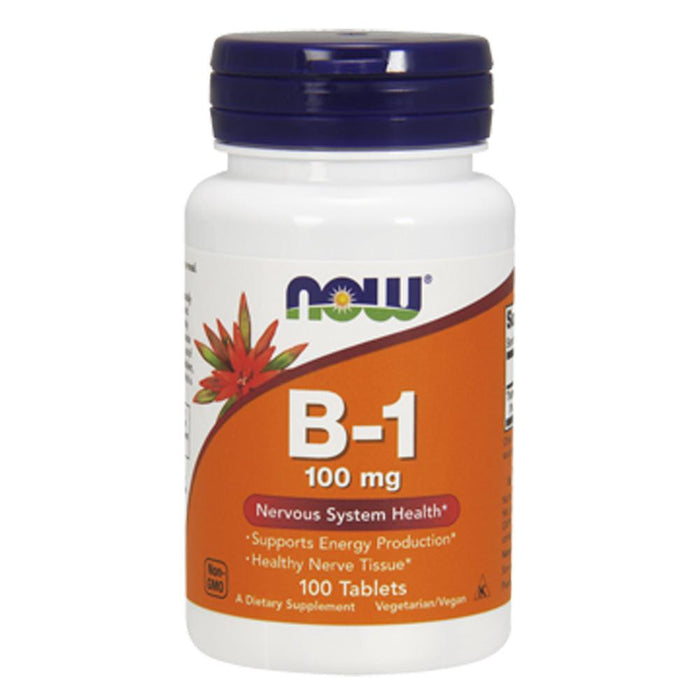 Now Foods Vitamins, Minerals, Herbs & More Now Foods Vitamin B-1 100mg 100 Tabs (581335285804)