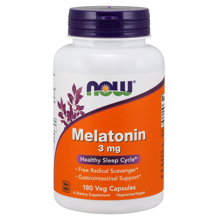 Now Foods Vitamins, Minerals, Herbs & More Now Foods Melatonin 3mg 180 Caps (580557930540)