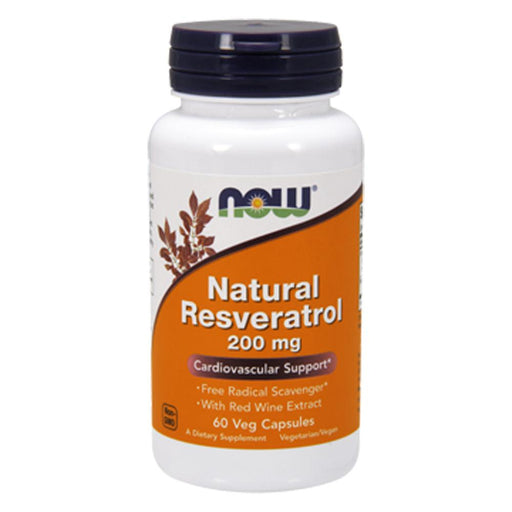 Now Foods Vitamins, Minerals, Herbs & More Now Foods Natural Resveratrol 200 Mg 120 Vegetable Capsules (582143737900)