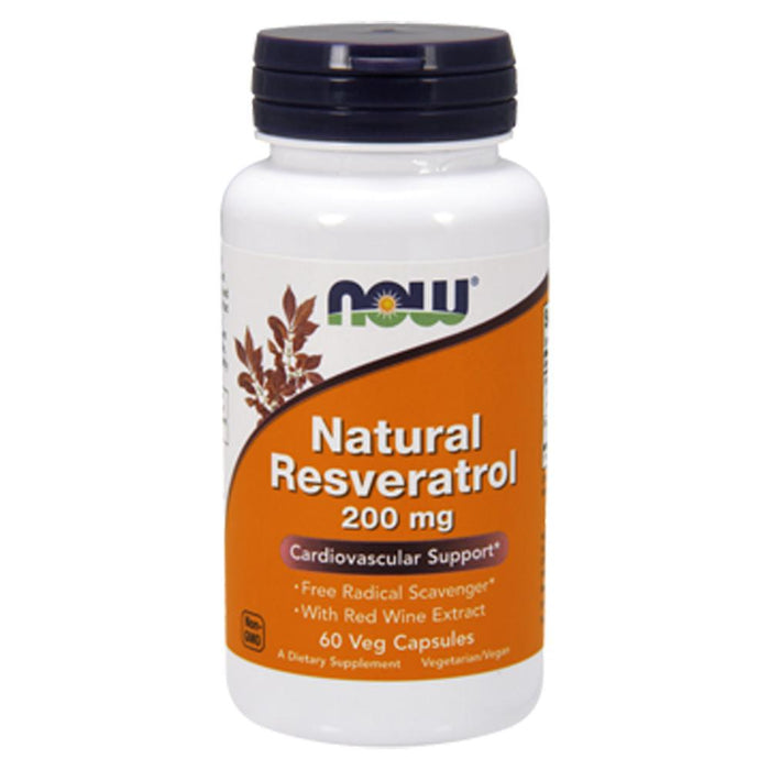Now Foods Vitamins, Minerals, Herbs & More Now Foods Natural Resveratrol 200 Mg 60 Vegetable Capsules (582201442348)