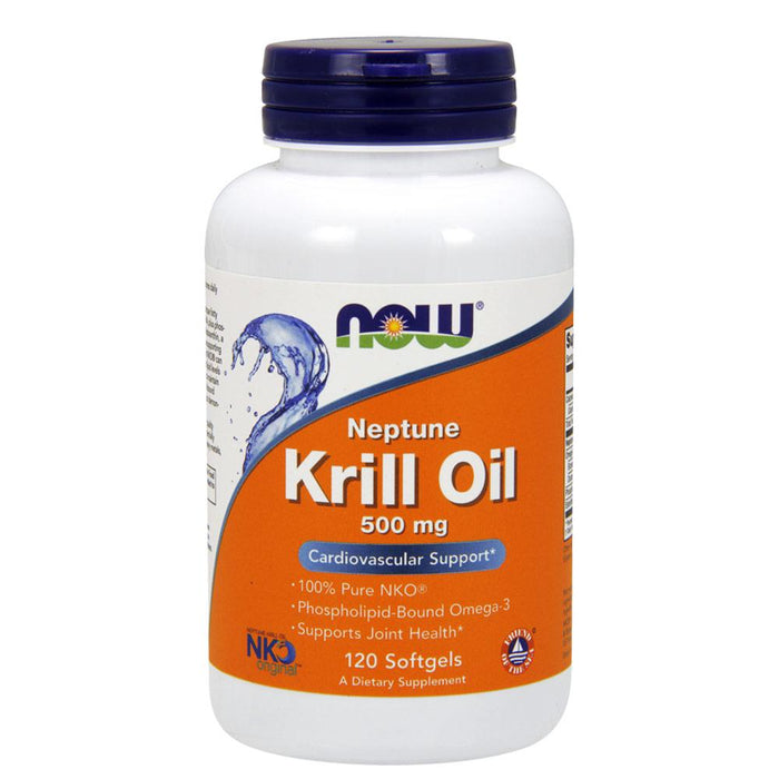 Now Foods Vitamins, Minerals, Herbs & More Now Foods Neptune Krill Oil 500mg 120 Gels (582314426412)