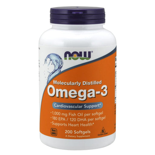 Now Foods Vitamins, Minerals, Herbs & More Now Foods Omega-3 1000mg 200 Gels (580609998892)