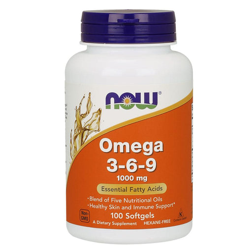 Now Foods Vitamins, Minerals, Herbs & More Now Foods Omega 3-6-9 1000mg 100 Gels (580602986540)
