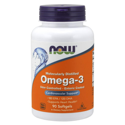 Now Foods Vitamins, Minerals, Herbs & More Now Foods Omega-3 90 Softgels Enteric (582177587244)