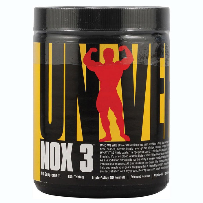 Universal Sports Nutrition & More Universal NOX3 Nitric Oxide 180 Tabs (580664983596)