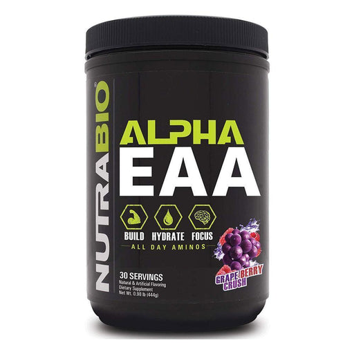 NutraBio Alpha EAA 30/Servings Grape Berry Crush (4380744089715)