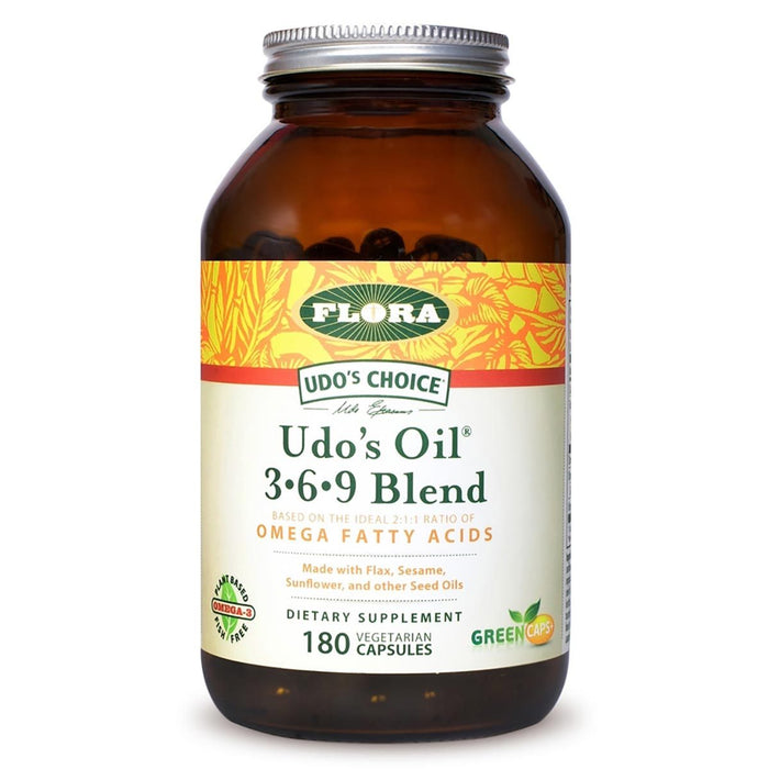 Flora (Udo's Choice) Vitamins, Minerals, Herbs & More Flora Udo's Choice Oil Blend 180 Caps (580804640812)