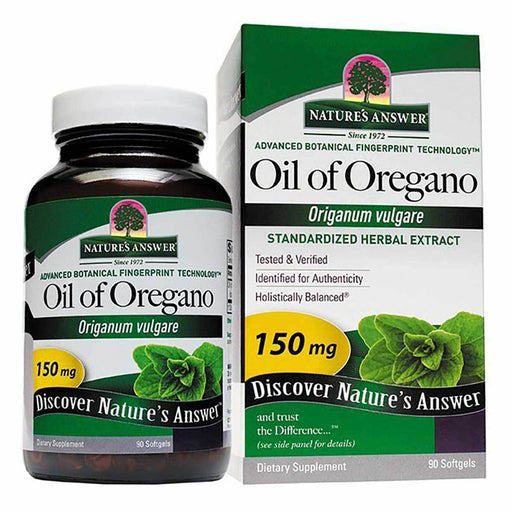 Nature's Answer Vitamins, Minerals, Herbs & More Nature's Answer Oil of Oregano 150mg 90 Softgels (582095601708)