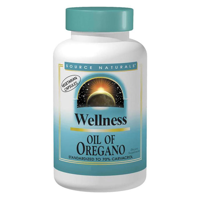 Source Naturals Vitamins, Minerals, Herbs & More Source Naturals Wellness Oil of Oregano 30 Caps (Standardized to 70% Carvacrol) (581597757484)