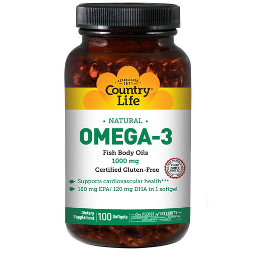 Country Life Vitamins, Minerals, Herbs & More Country Life Omega-3 Fish Oil 1000mg 100 Softgels (581523963948)