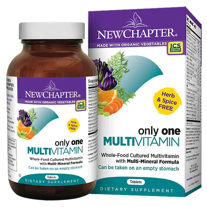 New Chapter Vitamins, Minerals, Herbs & More New Chapter Only One Multivitamin 72 Tabs (581315100716)